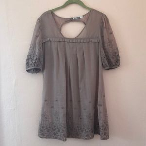 Romantic Mauve Eyelet Baby Doll Dress/tunic